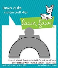 Lawn Fawn Reveal Wheel Add-On Craft Die- Semicircle