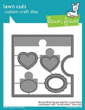 Lawn Fawn Reveal Wheel Craft Dies- Square Add On