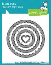 Lawn Fawn Stackable Circles Craft Dies- Reverse Stitched Scalloped