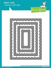 Lawn Fawn Stackable Rectangles Craft Dies- Reverse Stitched Scalloped