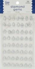 Rhinestone Diamond Stickers, 12mm- Silver