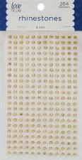 Rhinestone Stickers, 4mm- Gold