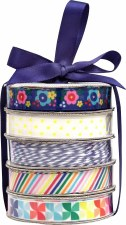 Mini Ribbon Spool 5 Pack- Cheerful