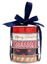 Mini Ribbon Spool 5 Pack- Classic Christmas