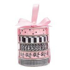 Mini Ribbon Spool 5 Pack- Classy Pink
