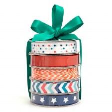 Mini Ribbon Spool 5 Pack- Patriotic