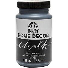 FolkArt Home Decor Chalk Paint 8 oz- Rich Black