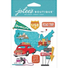 Jolee's Travel Dimensional Stickers- Road Trip