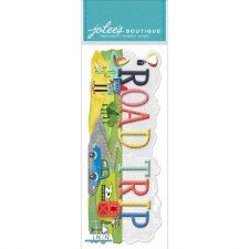Jolee's Travel Dimensional Title Stickers- Road Trip