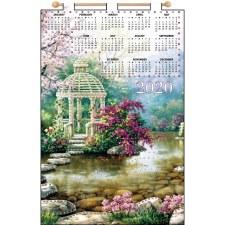 "2020 Calendar Felt Applique Kit, 16x24""- Rock Garden"