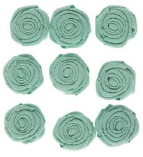 Canvas Rosettes, 9ct- Mint