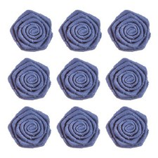 Canvas Rosettes, 9ct- Navy