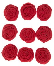 Canvas Rosettes, 9ct- Red