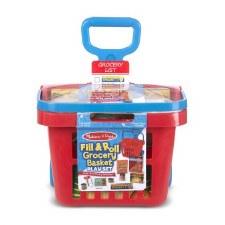 Melissa & Doug Food/Kitchen Play Set- Rolling Grocery Basket