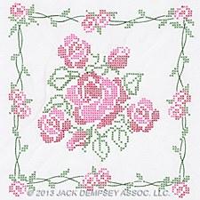 "18"" Quilt Blocks- Rose Bouquets"
