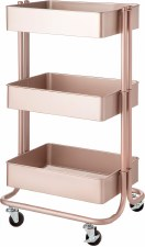 Rolling Utility Cart- Rose Gold