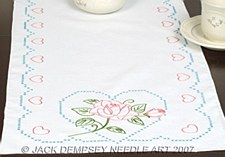 Table Runner- Rose & Heart