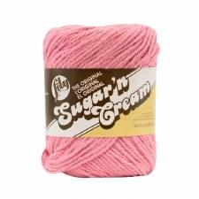 Sugar 'n Cream Yarn, Solid- Rose Pink #46