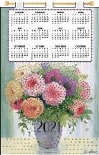 Jeweled 2021 Calendar - Rose Vase
