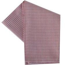 "Mini Check 20""x28"" Tea Towel- White & Rose"
