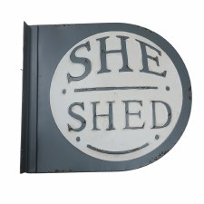 She Shed Sign- Round