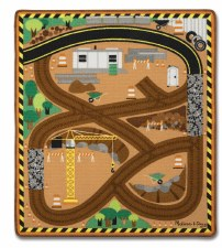 Melissa & Doug Rug- Round the Construction Site