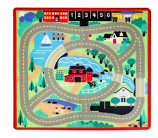 Melissa & Doug Rug- Round the Town Road