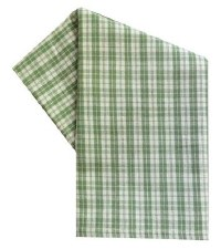 "Checkerpane 20""x28"" Tea Towel- Sage"