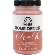 FolkArt Home Decor Chalk Paint 8 oz- Salmon Coral