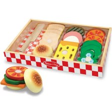 Melissa & Doug Food/Kitchen Play Set- Wooden Sandwich Making Set
