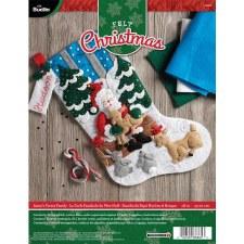 Bucilla Felt Stocking Kit- Santa's Forest Family
