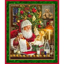 Christmas & Winter Fabric Panel- Santa's List