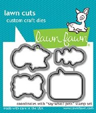 Lawn Fawn Say What? Pets Craft Dies