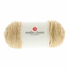 Studio Classic Acrylic Yarn, Solid- Light Brown
