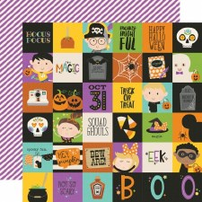 Say Cheese Halloween 12x12 Paper- 2x2 Elements