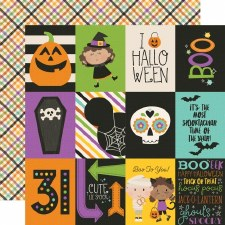 Say Cheese Halloween 12x12 Paper- 3x4 Elements