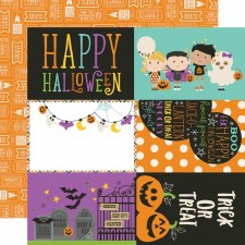 Say Cheese Halloween 12x12 Paper- 4x6 Elements