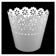 Scallop Tin Bucket-White