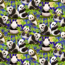 Panda Sanctuary Bolted Fabric- Scenic