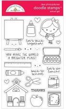 School Days Doodlebug School Girl Doodle Stamps