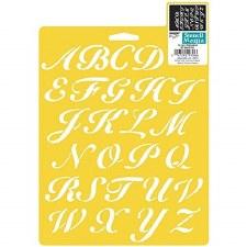 Stencil Mania 7x10 Stencil- Alphabet, Script
