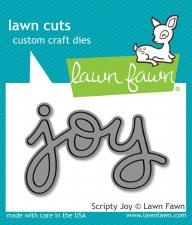 Lawn Fawn Craft Die- Scripty Joy