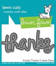 Lawn Fawn Craft Die- Scripty Thanks