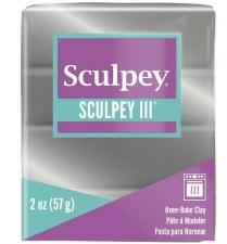 Sculpey III Polymer Clay - Silver 2oz.