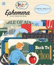 School Days Carta Bella Ephemera Die Cuts