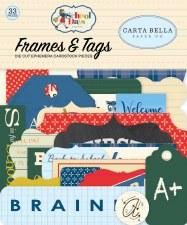 School Days Carta Bella Ephemera Die Cuts- Frames & Tags