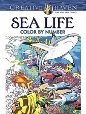 Creative Haven Color-by-Number Adult Coloring Book- Sea Life