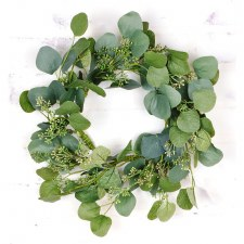"""Seeded Eucalpytus Wreath, 18"""""""
