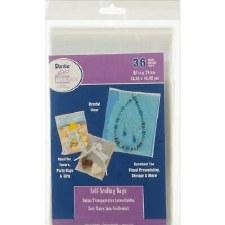 """Self Sealing Plastic Bags, 36ct- 5.25"""" x 7.25"""""""