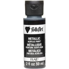 FolkArt 2 Oz. Metallic Acrylic Paint- Sequin Black